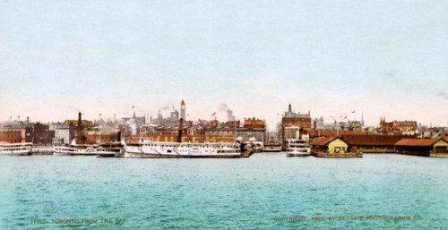 Turn of the century skyline. Photo from Blog TO.